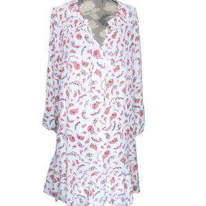 Old Navy Dress Sz XL Floral Paisley Flowy Ruffles